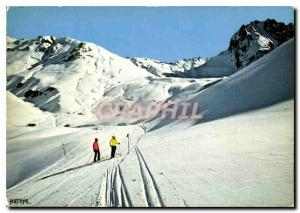 Postcard Modern Bareges La Mongie Trails Caoubere tracks and Col du Tourmalet