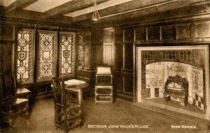 UK - Scotland, Edinburgh. John Knox's House, Bedroom