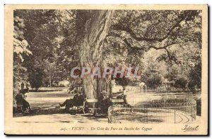 Vichy - A Corner Park in Swan Basin - Old Postcard