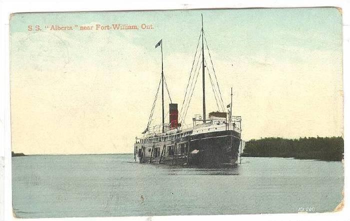 Steamer, S. S. Alberta Near Fort-William, Ontario, Canada, PU-1910