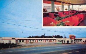 Maryville Tennessee 1960s Postcard Travelers Motel & Teddy Bear Drive-In