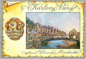 Modern Postcard Karlovy Vary Novy Pramen Morstadt Vincenc (1836)