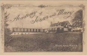 New York Highland Mills Academy Of Jesus And Mary Albertype