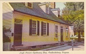 Hugh Mercer's Apothecary Shop Fredericksburg Virginia