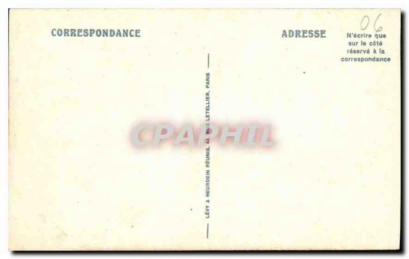 Old Postcard Menton Garavan shooting