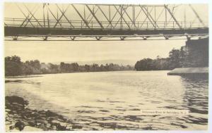VINTAGE POSTCARD DELAWARE RIVER AT BELVIDERE N.J.