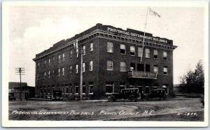 Prince George, BC Photo Canada Postcard Provincial Government Buildings 1943