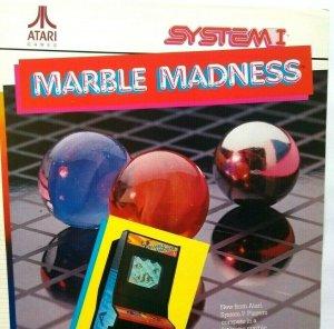 Atari Marble Madness Arcade FLYER Original Retro Video Game 1984 Art Print Sheet