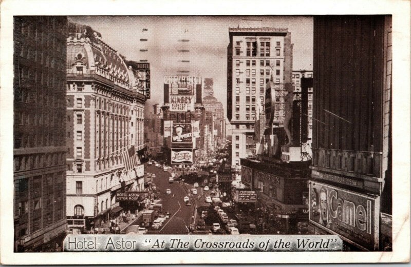The Hotel ASTOR - NEW YORK TIMES SQUARE - Postcard - PC MARCH OF DIMES 1953