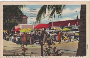 Bahamas Nassau Native Market Prince George Dock 1956 Curteich