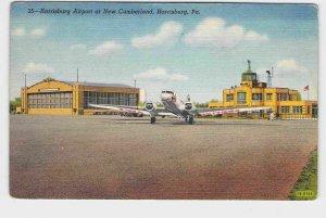 PPC POSTCARD PENNSYLVANIA HARRISBURG AIRPORT AT NEW CUMBERLAND