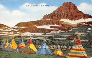 Indian Tepees in the West Montana, MT and Wyoming, WY, USA Unused