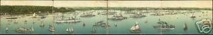 germany KIEL, 4x pc Gesammtansicht vom Kriegshafen 1899