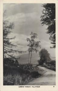 Real photo postcard Lord`s Throat , Tillyfour