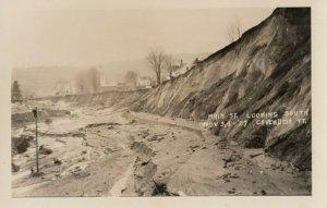 RP: CAVENDISH , Vermont, 1927 ; Main Street Flood Damage