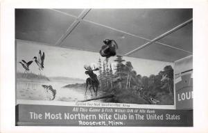 C92/ Roosevelt Minnesota Mn RPPC Postcard c1950s Most Northern Nite Club Moose