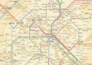 Paris Underground Map France Train Subway Postcard