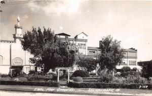 C18/ Shenandoah Iowa Ia Real Photo RPPC Postcard 1953 Earl May Gardens Cook