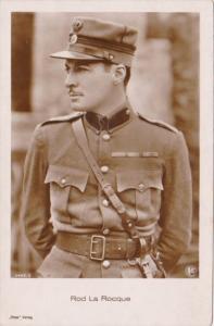 Rod la Rocque Military Uniform Real Photo