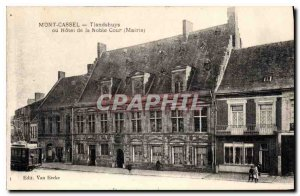 Old Postcard Mont Cassel Tiandshuys or the Noble Court Hotel Mayor Tram