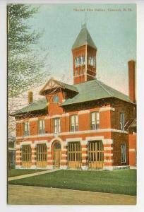 Concord NH Central Fire Station Postcard