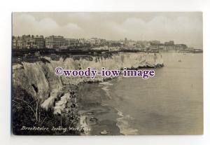 tq2038 - Kent - Cliffs and Shoreline looking West, from Broadstairs - Postcard