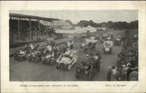 Danbury CT Parade of Decorated Cars c1905 Fair Postcard