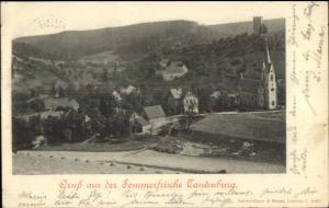 Gruss Aus Der Sommerfrische Tautenburg Germany c1900 Postcard