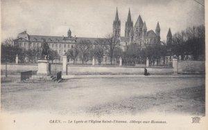 CAEN, France, 1910-1920s, Le Lycee et l'Eglise Saint-Etienne Abbaye aux Hommes