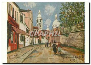 Modern Postcard Maurice Utrillo Montmartre Sacre Coeur