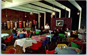 Vintage SOUTH OF THE BORDER SC / NC Postcard Acapulco Room Restaurant c1970s