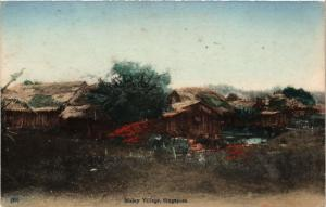 Singapore Postcard Malay Village (a1410)