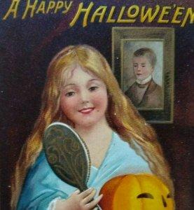 Halloween Postcard Ellen Clapsaddle 1909 Emboss Original Schenectady NY Vintage