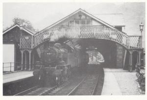 The Lakes Branch Coniston Station in 1957 Railway 41217 Train Postcard