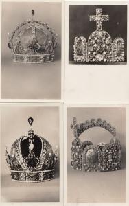 Wien Schafzkammer Crown Kaiserkrone Old Royal Regalia 3x German Postcard s