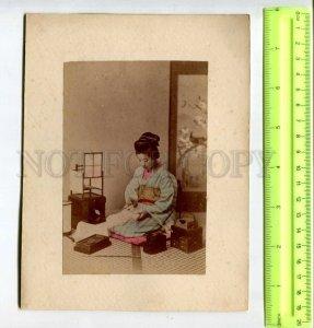294426 JAPAN Geisha girl writes Yokohama chrysanthemum garden two PHOTOS