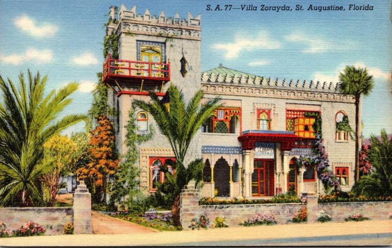 Florida St Augustine Villa Zorayda Curteich