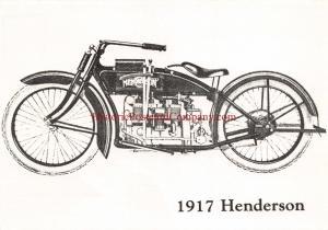 1917 HENDERSON MOTORCYCLE POSTCARD