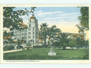 Unused W-Border ARLINGTON HOTEL Santa Barbara California CA hr8932