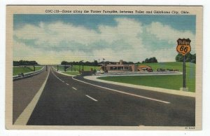 Tulsa-Oklahoma City, Oklahoma, Early View Along Turner Turnpike, RT. 66