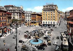 Italy Old Vintage Antique Post Card Barberii Square Roma 1967