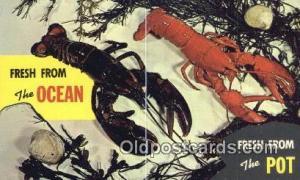 Fresh from Ocean, Fresh from Pot  Postcard Post Card, Carte Postale, Cartolin...