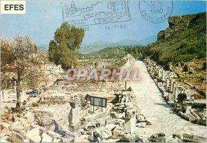 Postcard Modern Marble Street Ephesus Efes Izmir
