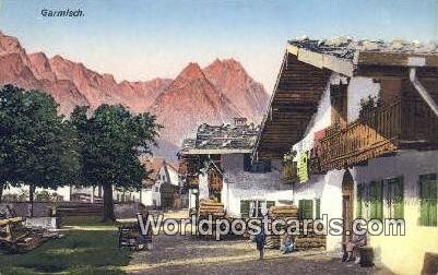 Garmisch Germany, Deutschland Postcard  Garmisch