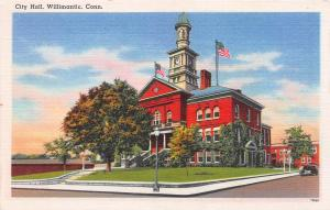 City Hall, Willimantic, Connecticut, Early Postcard, Unused