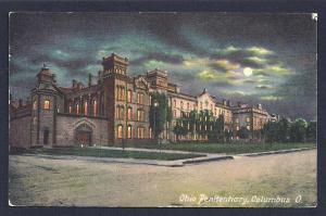 Ohio Penitentiary @ Nite Columbus Ohio used c1909