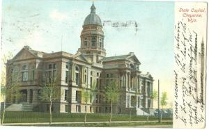USA, State Capitol, Cheyenne, Wyoming, 1907 used Postcard