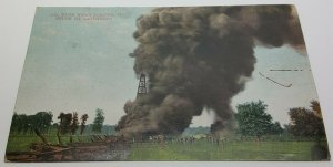 Oil Tanker Lightning Toledo Ohio Vintage Postcard