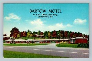 Cartersville GA, Bartow Motel, Swing, Street View, Chrome Georgia Postcard