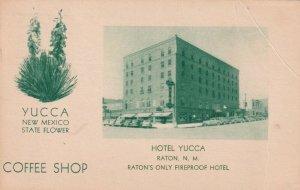 RATON, New Mexico , 1949 ; Hotel Yucca ; Version-2